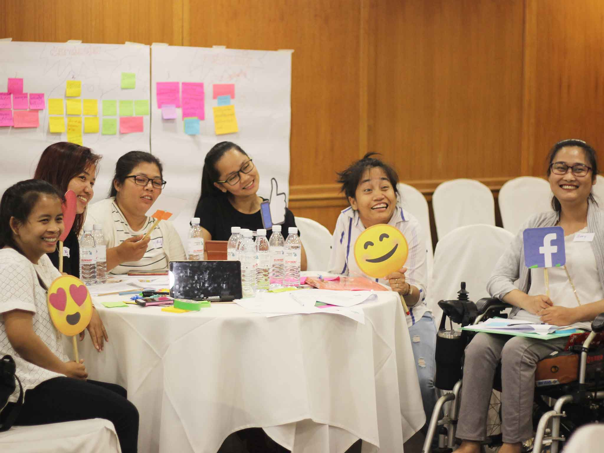 Women with disabilities learn to Amplifying their voices