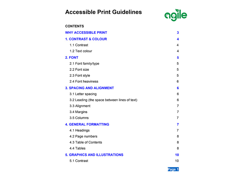 Accessible Print Guideline